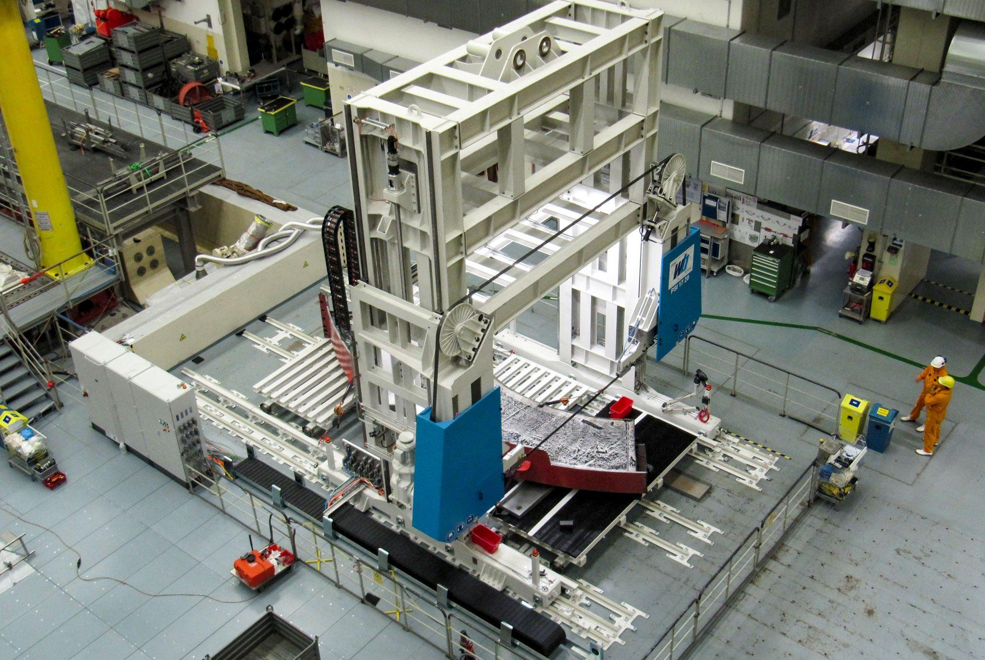 Großbandsägen für die Kerntechnik